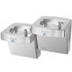 wall-mounted drinking fountain / indoor / stainless steel / galvanized steel