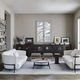 compact sofa / contemporary / fabric / steel