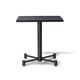 contemporary table / wooden / metal base / square