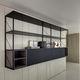 wall-mounted shelf / modular / contemporary / aluminium