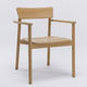 contemporary chair / with armrests / stackable / teak