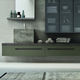 wall-mounted washbasin cabinet / wooden / contemporary / with drawers