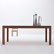 contemporary dining table / cherrywood / plywood / rectangular