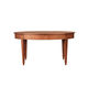 traditional dining table / cherrywood / oval / extending