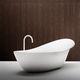 oval bathtub / free-standing / Cristalplant® / white