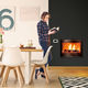 wood-burning fireplace insert / remote-controlled