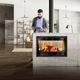 wood-burning fireplace insert / double-sided