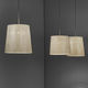pendant lamp / contemporary / painted steel / stainless steel mesh