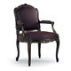 Louis XV style armchair / fabric / beech