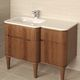 wall-hung washbasin cabinet / free-standing / wooden / contemporary