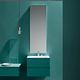 contemporary bathroom cabinet / melamine / wall-mounted / with mirror