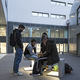 contemporary stool / concrete / LED-illuminated / for public spaces