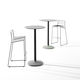 contemporary high bar table / laminate / metal base / round
