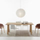 contemporary work table / wooden / wooden base / rectangular