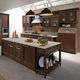 traditional kitchen / lacquered wood / island / matte
