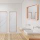 wall-mounted mirror / bedroom / contemporary / rectangular