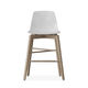 contemporary bar chair / with footrest / recyclable / beech