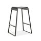 contemporary bar stool / painted metal / with footrest / contract