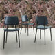 contemporary chair / upholstered / standard base / leather