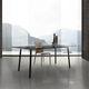 contemporary table / glass / HPL / melamine