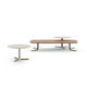 contemporary coffee table / wooden / marble / rectangular