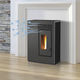 pellet heating stove / steel / contemporary / ventilated