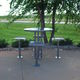 contemporary high bar table / steel / round / outdoor