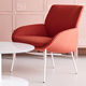 contemporary armchair / fabric / with armrests / upholstered