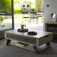 contemporary coffee table / wooden / rectangular / with storage compartment
