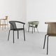 contemporary chair / with armrests / stackable / ergonomic