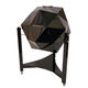 Art Deco bar cabinet / lacquered wood / leather / black