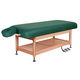 electric massage table / hydraulic / wooden / with storage compartment
