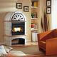 pellet heating stove / 0 - 5 kW / 5 kW...10 kW / contemporary