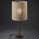 table lamp / contemporary / wooden / brown