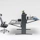 metal desk / melamine / contemporary / commercial