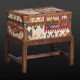 contemporary side table / wooden / rectangular / with storage compartment