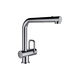 countertop mixer tap / stainless steel / bathroom / 1-hole