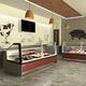 refrigerated display counter / countertop / illuminated / custom