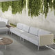 contemporary sofa / fabric / contract / 2-person