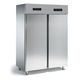 commercial refrigerator-freezer / double door / stainless steel / top freezer