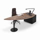 height-adjustable desk / wooden / contemporary / commercial