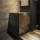 free-standing washbasin / square / natural stone / contemporary