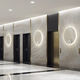 contemporary wall light / aluminum / LED / round