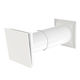 wall-mounted air vent / plastic / square