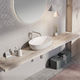 countertop washbasin / oval / stone / contemporary