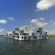 prefab building / floating / for housing developments / contemporary