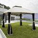 steel gazebo / fabric roof