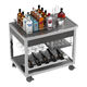 beverage trolley / commercial / stainless steel