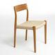 Scandinavian design chair / upholstered / oak / walnut