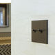 light switch / toggle / recessed / double